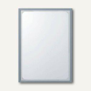Infotasche mit Ausschnitt, DIN A4, hoch, selbstklebend, grau, 5 Stück, 879509