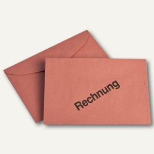 Farbiger Briefumschlag, DIN C6, Aussendruck: Rechnung, 75 g/m², rot, 1.000St.