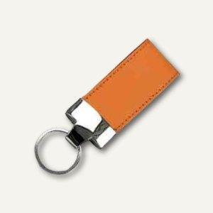 Alassio Schlüsselanhänger, Leder, inkl. Schlüsselring, 35 x 110 mm, orange,43210
