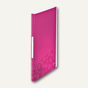 LEITZ Sichtbuch WOW, DIN A4, mit 40 Hüllen, PP, pink-metallic, 4632-00-23