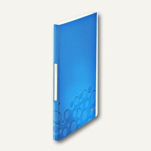 LEITZ Sichtbuch WOW, DIN A4, mit 40 Hüllen, PP, blau-metallic, 4632-00-36