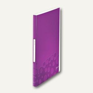 LEITZ Sichtbuch WOW, DIN A4, mit 40 Hüllen, PP, violett, 4632-00-62