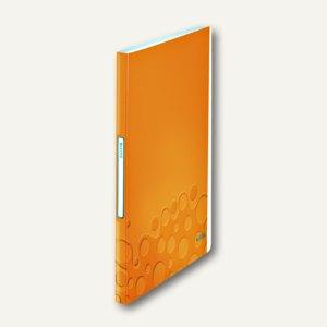 LEITZ Sichtbuch WOW, DIN A4, mit 40 Hüllen, PP, orange-metallic, 4632-00-44