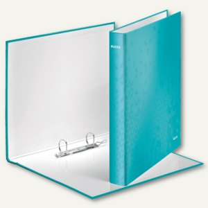 LEITZ Ringbuch WOW - DIN A4, Hartpappe, Rücken: 40mm, eisblau, 4241-00-51