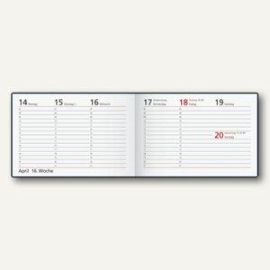 Taschenkalender Septimus, 1 Woche/2 Seiten, 158 x 105 mm QUER, schwarz