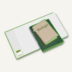 Buchhüllen mit Lasche grün, 295 x 550 mm, PP-Folie, glasklar, 10 St., 1540295