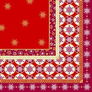 """Papstar Servietten """"X-mas Composition"""", 1/4-Falz, 40 x 40 cm, 400 St., 84288"""