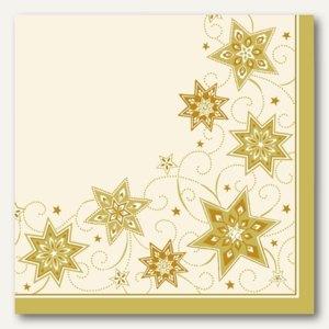 """Servietten """"Just Stars creme"""", stoffähnlich, 1/4-Falz, 40 x 40 cm, 400 St."""