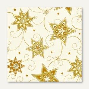 "Servietten ""Just Stars creme"", 3-lagig, 1/4-Falz, 33 x 33 cm, 600 St., 81259"