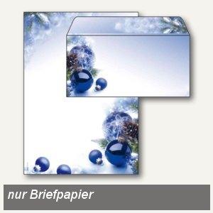 Weihnachtspapier Blue Harmony