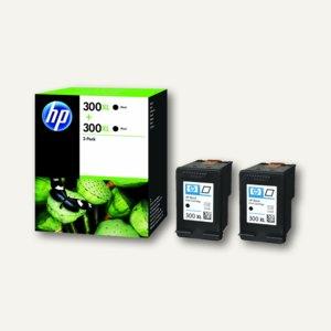 HP Tintenpatrone Nr.300XL, schwarz, für ca. 600 Seiten, Doppelpack, D8J43AE