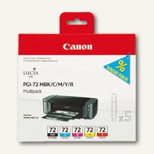 Canon Tintenpatronen PGI-72 Multipack, 5 Farben, 6402B009