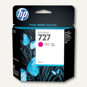 HP Designjet Tintenpatrone 727, 40 ml, magenta, B3P14A