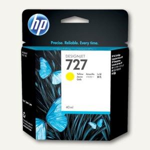 HP Designjet Tintenpatrone 727, 40 ml, gelb, B3P15A