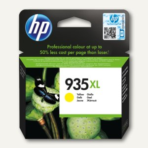 HP Tintenpatrone 934XL, 9.5 ml, ca. 825 Seiten, gelb, C2P26AE