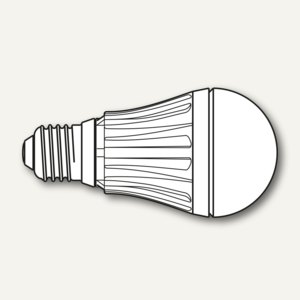 LED-Lampe, Sockel E27, 10W, 230V, 4000K, 850lm, Glühlampen-Form, 3 St., 8291005
