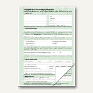 Sigel Arbeitsvertrag Mini-& Midi-Jobs aktuelle Vesion, A4, 2x 2Bl., 25St., AV426