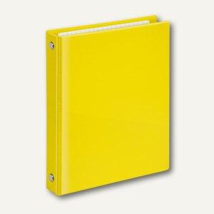 Ringbücher VELOCOLOR A6, Karton, 4 D-Ringe Ø 13 mm, gelb, 6 Stück, 1164310