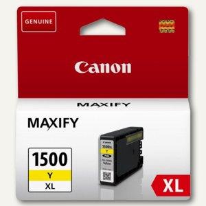 Canon Tintenpatrone, PGI-1500XLY, gelb, 12 ml, 9195B001