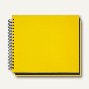 Veloflex Foto-/Gästebuch VELOCOLOR®, 28.5x24 cm, Spiralbindung, gelb, 5530310
