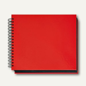 Veloflex Foto-/Gästebuch VELOCOLOR®, 28.5x24 cm, Spiralbindung, hellrot, 5530321