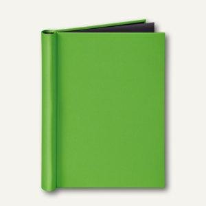 Klemmbinder VELOCOLOR®, DIN A4+, Leinen, für ungelochtes Schriftgut, hellgrün