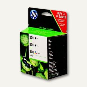 HP Tintenpatronen Nr.301, ca. 330 Seiten, 2 x schwarz + 3-farbig, E5Y87EE