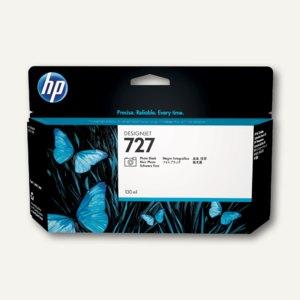 HP Designjet Tintenpatrone 727, 130 ml, photo-schwarz, B3P23A