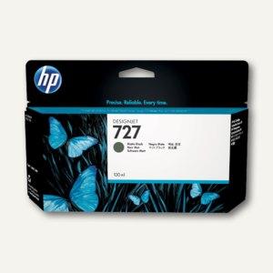 HP Designjet Tintenpatrone 727, 130 ml, schwarz-matt, B3P22A
