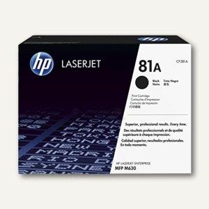 HP Lasertoner 81A, ca. 10.500 Seiten, schwarz, CF281A