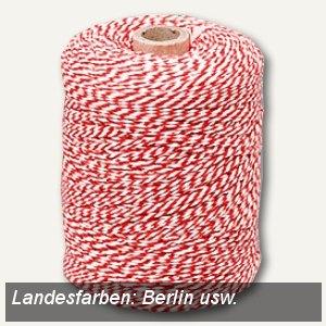 CSK Urkunden-Heftgarn - Berlin usw., Baumwolle, rot/weiß, 360 Meter, F200325