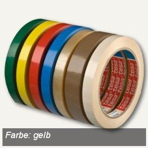 Tesa Klebeband 4204, PVC, 12 mm x 66 m, gelb, 04204-00041-00