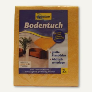 aqualine Bodentücher, Viskose/Polypropylen, 50 x 60 cm, orange, 2St., 9006-05005