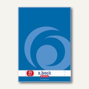 Herlitz Schulblock x.book DIN A4, liniert, 4-fach gelocht, 50 Blatt, 216275
