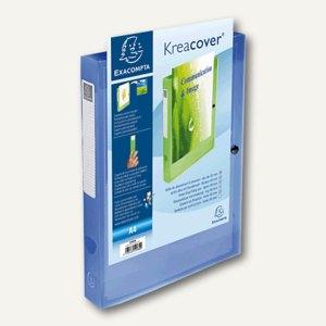 Exacompta Dokumentenbox, für DIN A4, 32 x 24 x 4 cm, PP, blau-transparent,59982E
