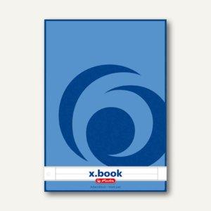 Herlitz Arbeitsblock x.book DIN A4, liniert mit Rand, 4-fach gelocht, 215418