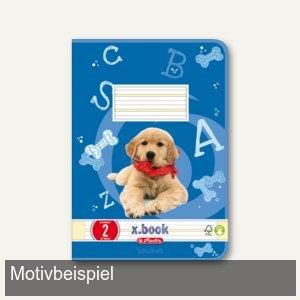 Herlitz Schulheft x.book DIN A5, liniert, Lineatur 2, 32 Blatt, 340026