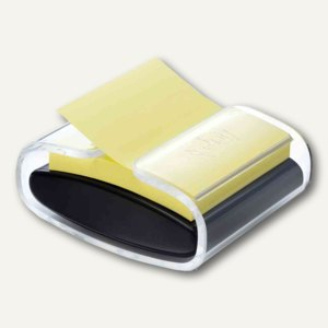 Post-it Super Sticky Z-Notes Spender, 86x103x46 mm, schwarz/transparent, PRO-B1Y