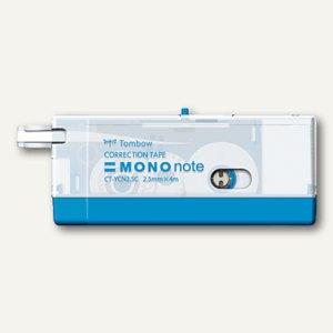 Tombow Korrekturroller MONO Note, 4 m x 2.5 mm, blau, CT-YCN2.5-BE-B