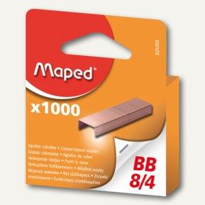 Maped Heftklammern BB 8/4, verkupfert, 1.000 Stück, 325205 9
