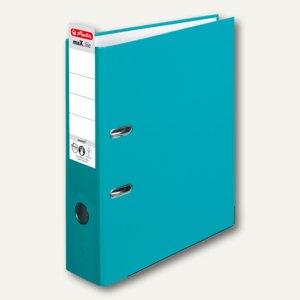 Herlitz Ordner maX.file protect DIN A4, 80 mm, Wechselfenster, türkis, 10094829