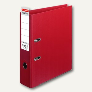 Herlitz Ordner maX.file protect plus, Kantenschutz, 80 mm, bordeaux, 10834455