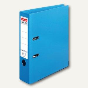 Herlitz Ordner maX.file protect plus, Kantenschutz, 80 mm, hellblau, 10834422