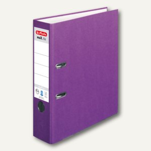 Herlitz Ordner maX.file nature plus DIN A4, 80 mm, lila, 10841617