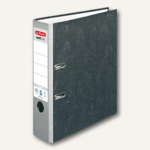 Herlitz Ordner maX.file nature 80 mm breit, Wolkenmarmor, grauer Rücken,10841740