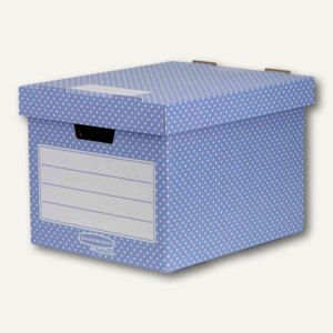 Fellowes BANKERS BOX STYLE Archivbox, 29.2x40.4x33.5cm, blau/weiß, 4St., 4481901