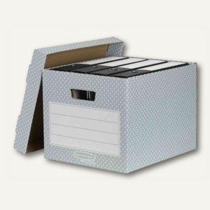 Fellowes BANKERS BOX STYLE Archivbox, 29.2x40.4x33.5cm, grün/weiß, 4St., 4481301