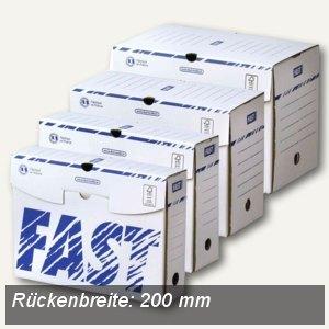FAST Archivschachtel, 250 x 330 mm, Rückenbreite: 200 mm, weiß, 25St.,4887X60025