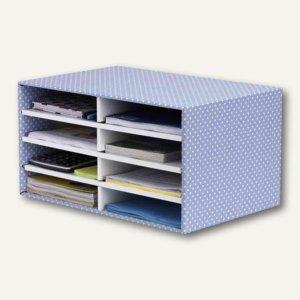 BANKERS BOX STYLE Schreibtisch-Manager A4, 49x31x26cm, blau/weiß, 4482501