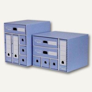 BANKERS BOX STYLE Schreibtisch-Organizer A4, 38.3x33.9x28.9cm, blau/weiß, 448240